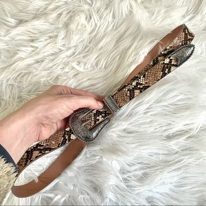 Missguided Snake Faux Leather Western Style Belt
